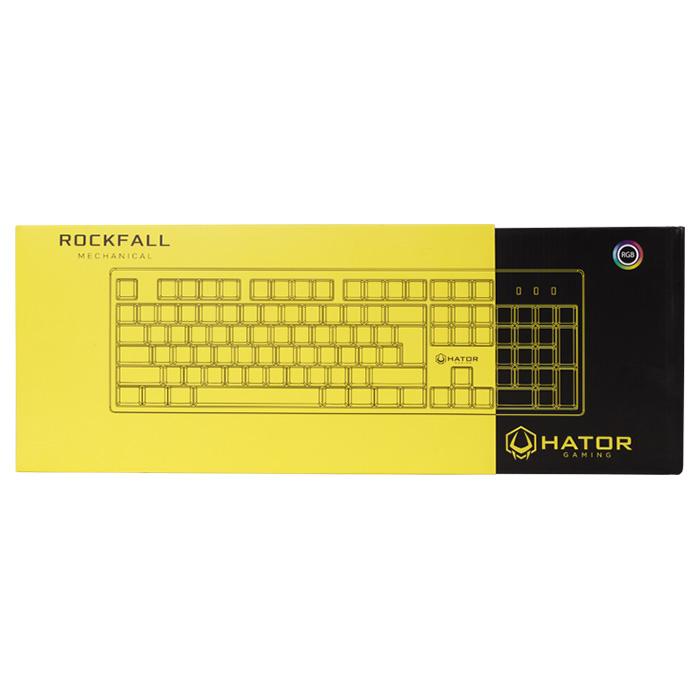 Клавіатура HATOR Rockfall UA Red Switch Yellow (HTK-602)