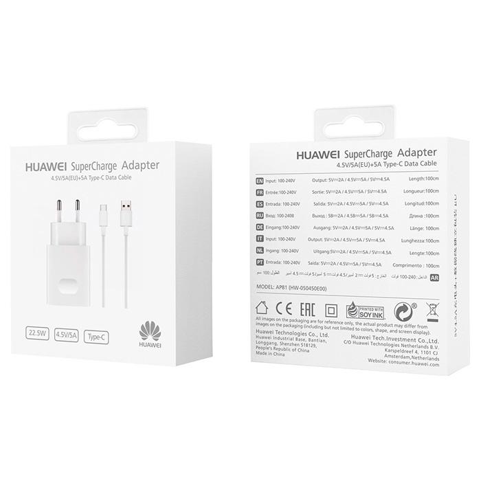 Зарядное устройство HUAWEI AP81 SuperCharge Type-C (02452310)