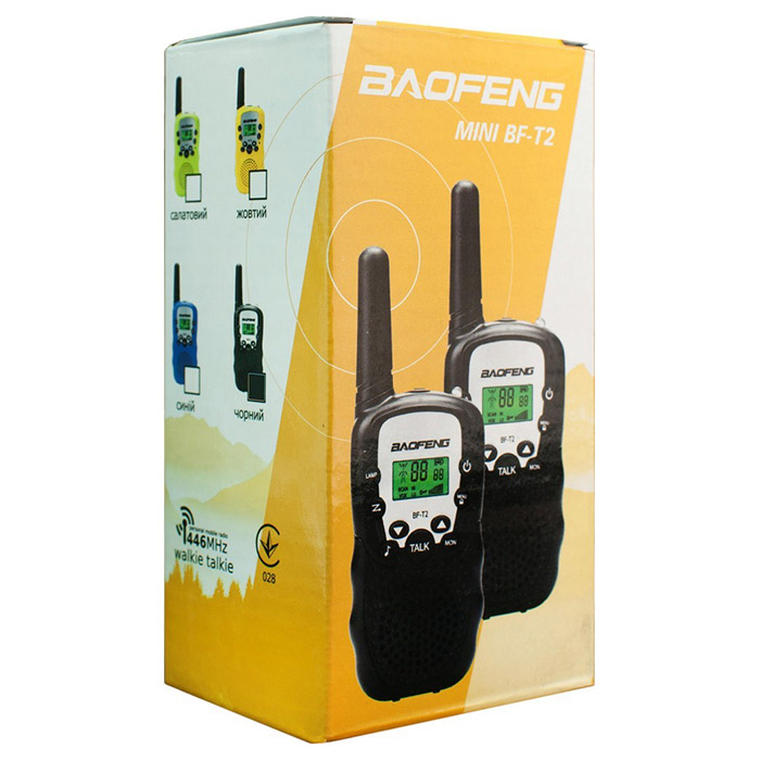 Набор раций BAOFENG MiNi BF-T2 Black 2-pack