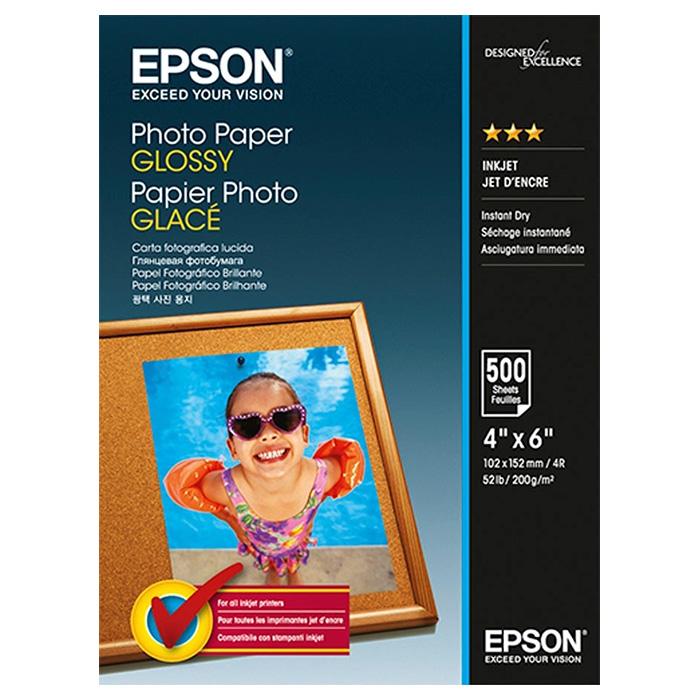 Фотопапір EPSON Glossy Photo 10x15см 200г/м² 500л (C13S042549)