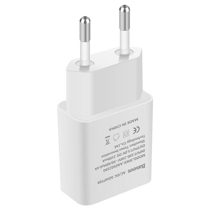 Зарядное устройство BASEUS Letour 2.1A White (CCALL-E2A02)