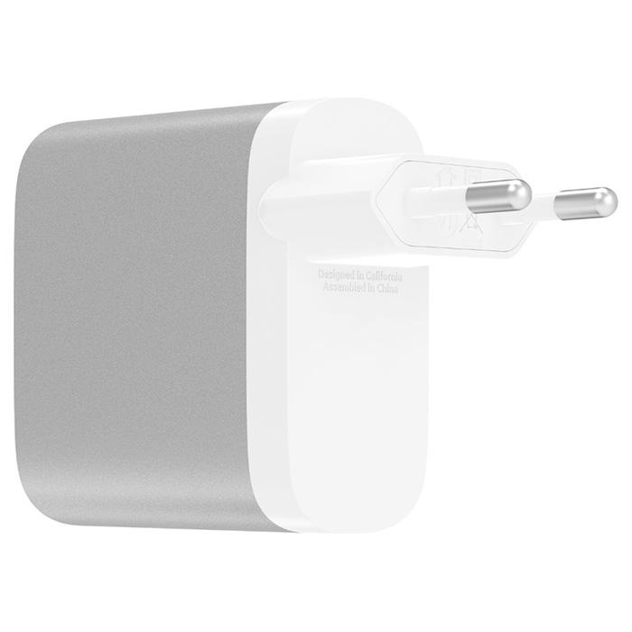 Зарядное устройство BELKIN Boost Up Charge 27W USB-C + 12W USB-A Home Charger (F7U061VF-SLV)