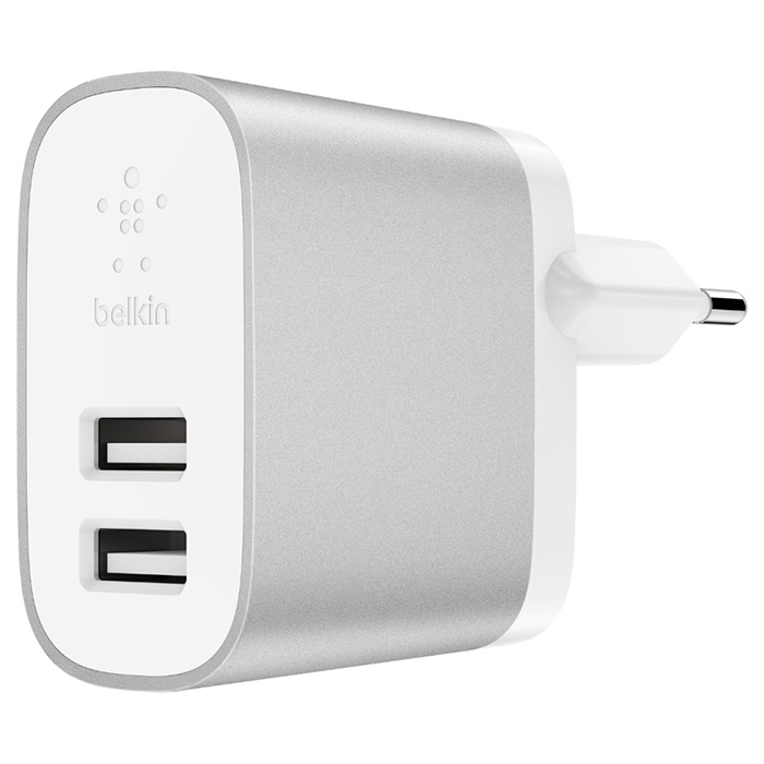 Зарядное устройство BELKIN Boost Up Charge 2-Port Home Charger (F7U049VFSLV)