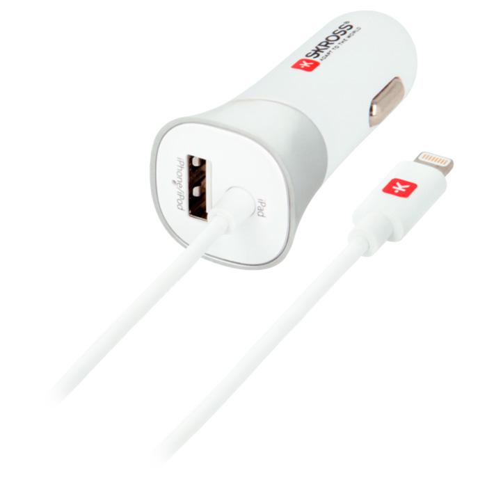 Автомобильное зарядное устройство SKROSS USB Car Charger & Lightning Connector (2.900616)