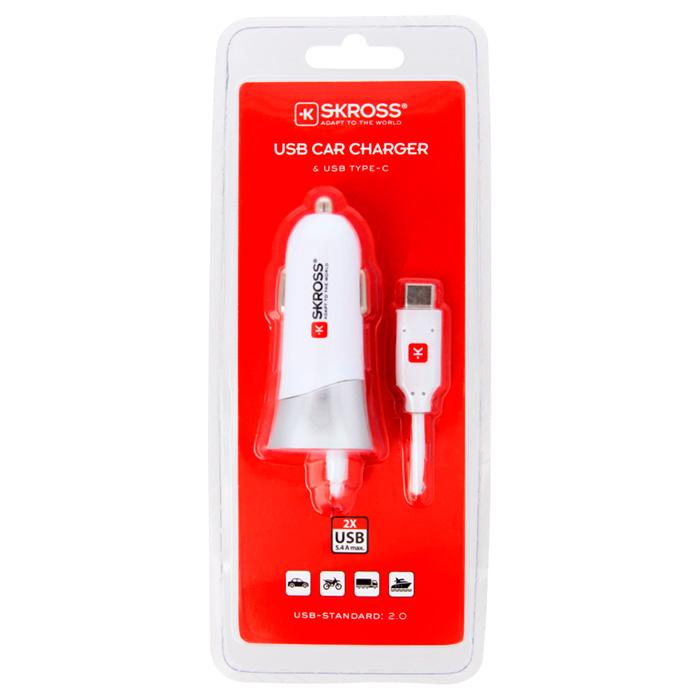 Автомобильное зарядное устройство SKROSS USB Car Charger & USB Type-C (2.900618)