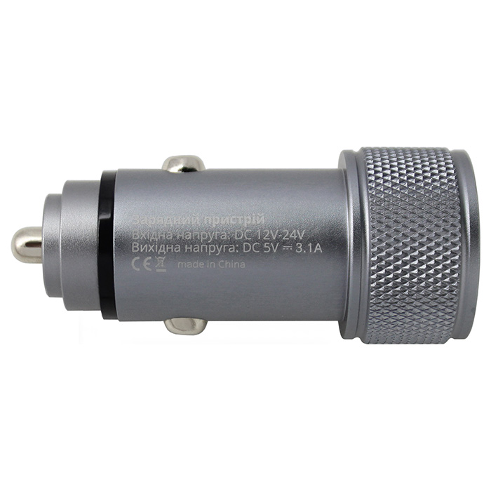 Автомобильное зарядное устройство GRAND-X CH-07 Dark Gray