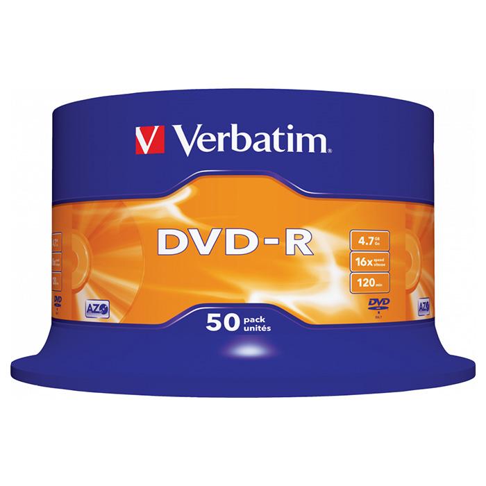 DVD-R VERBATIM AZO 4.7GB 16x 50pcs/spindle (43548)