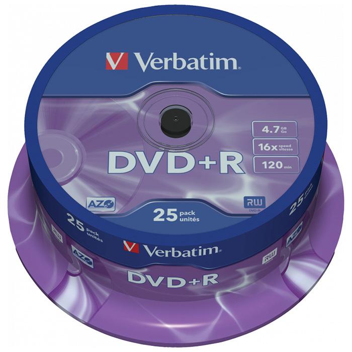 DVD+R VERBATIM AZO 4.7GB 16x 25pcs/spindle (43500)