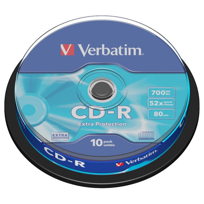 CD-R VERBATIM Extra Protection 700MB 52x 10pcs/spindle (43437)