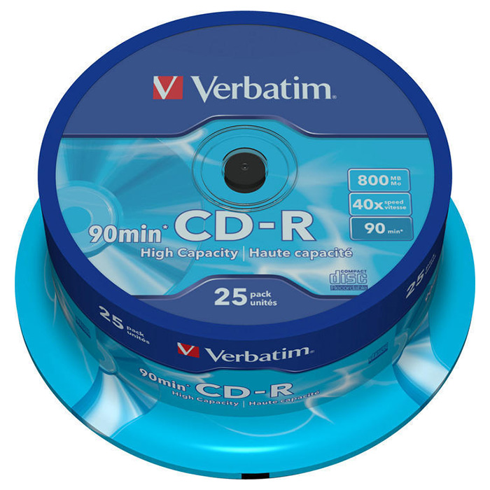 CD-R VERBATIM 800MB 40x 25pcs/spindle (43586)