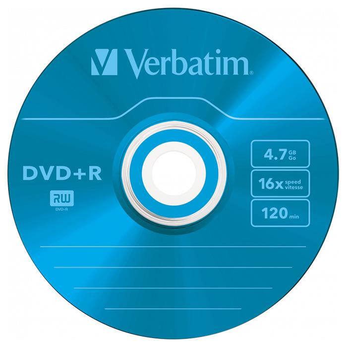 DVD+R VERBATIM AZO Colour 4.7GB 16x 5pcs/slim (43556)