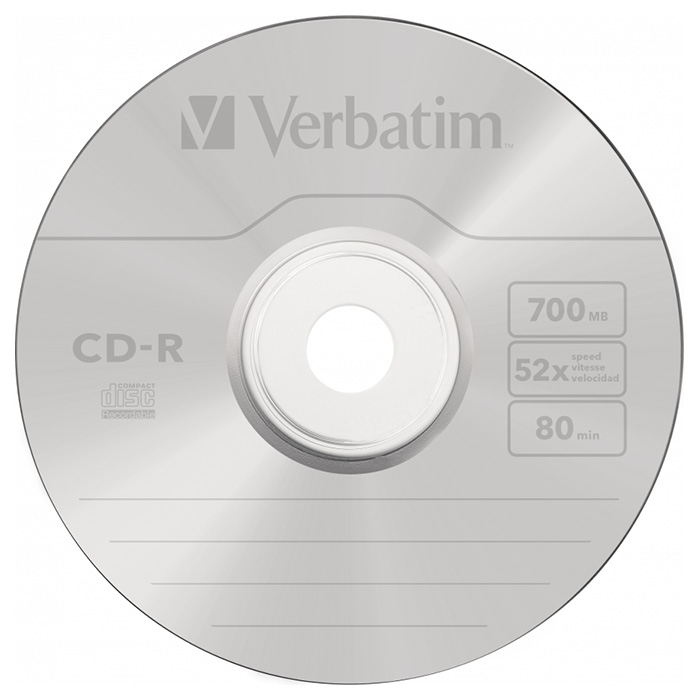 CD-R VERBATIM AZO Crystal 700MB 52x 50pcs/spindle (43343)
