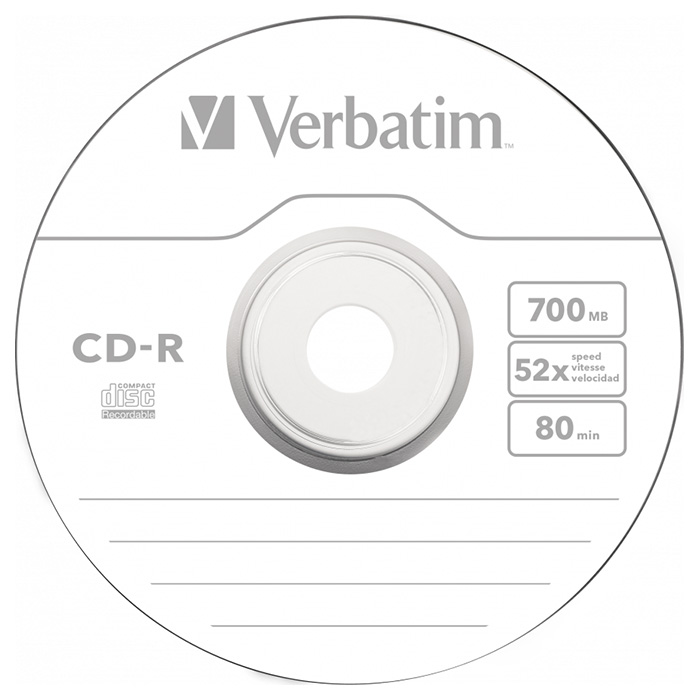 CD-R VERBATIM Extra Protection 700MB 52x 25pcs/spindle (43432)