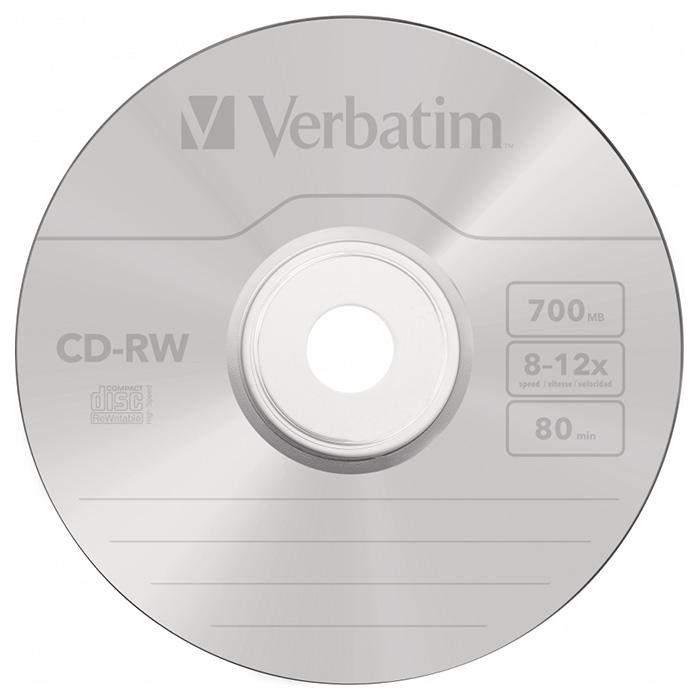 CD-RW VERBATIM SERL 700MB 8-12x 10pcs/spindle (43480)