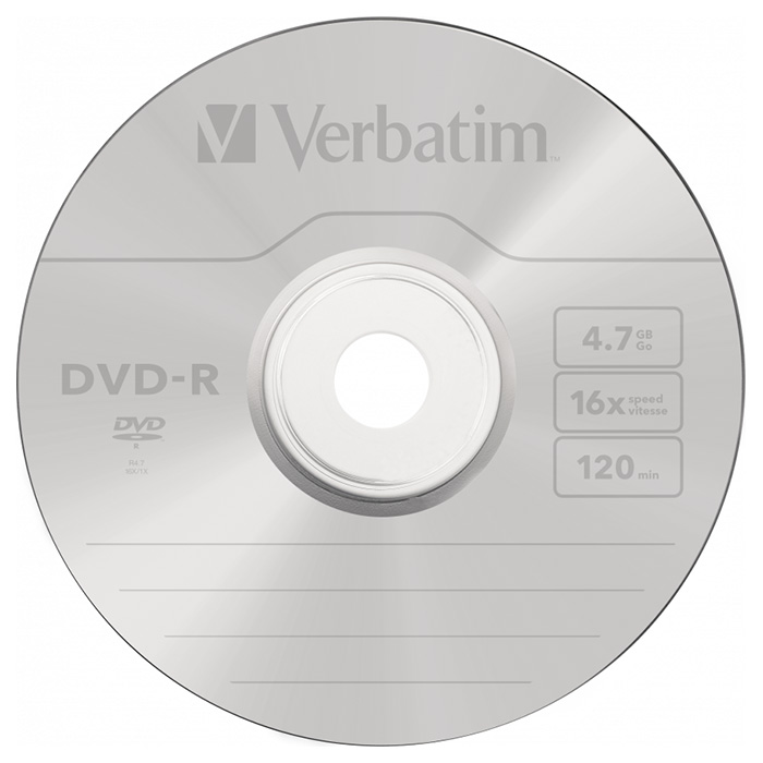DVD-R VERBATIM AZO 4.7GB 16x 25pcs/spindle (43522)