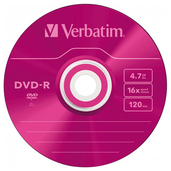 DVD-R VERBATIM AZO Colour 4.7GB 16x 5pcs/slim (43557)