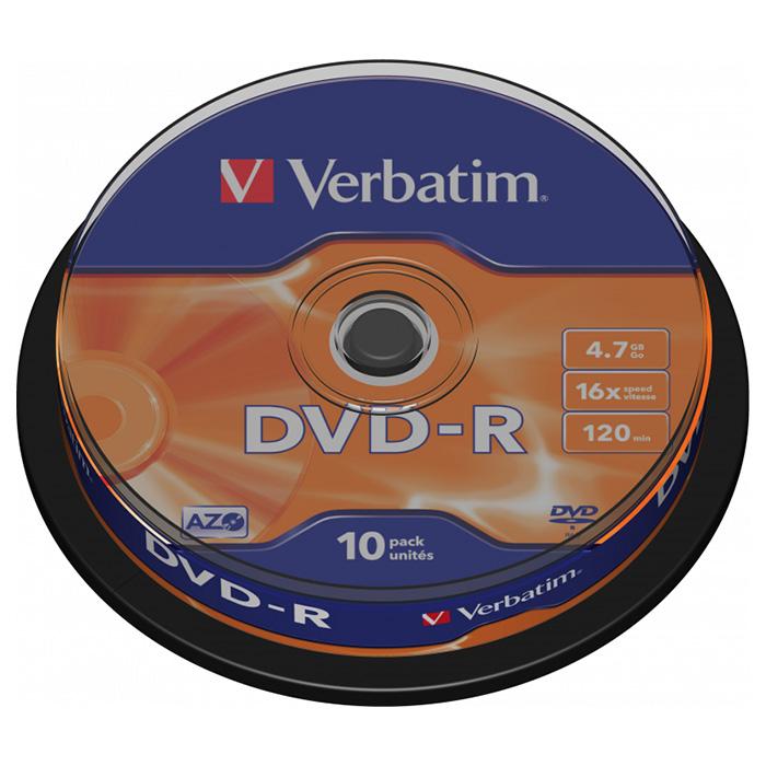 DVD-R VERBATIM AZO 4.7GB 16x 10pcs/spindle (43523)