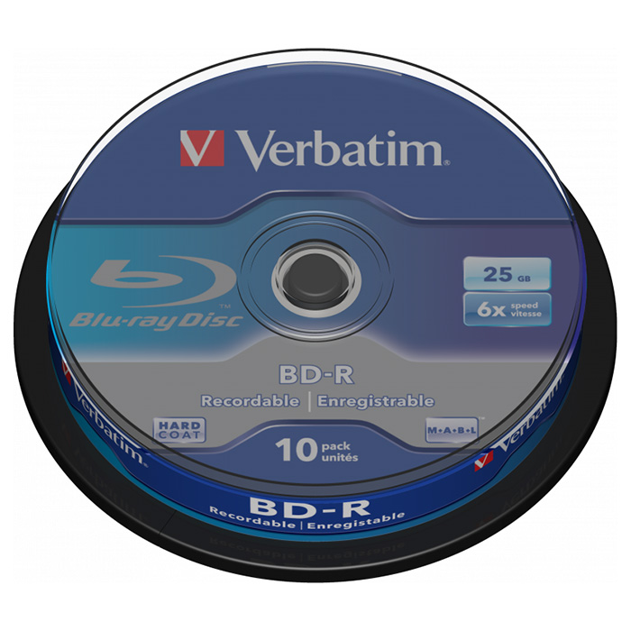 BD-R SL VERBATIM MABL 25GB 6x 10pcs/spindle (43742)