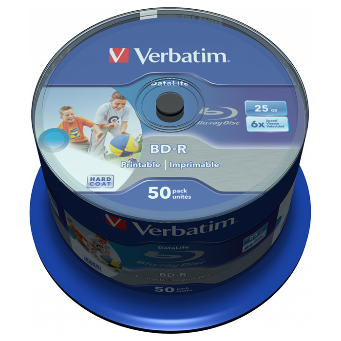 BD-R SL VERBATIM DataLife 25GB 6x 50pcs/spindle (43812)