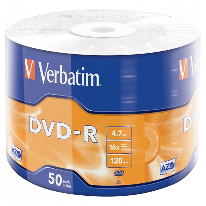 DVD-R VERBATIM AZO 4.7GB 16x 50pcs/wrap (43788)