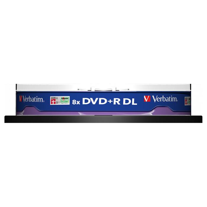DVD+R DL VERBATIM AZO 8.5GB 8x 10pcs/spindle (43666)