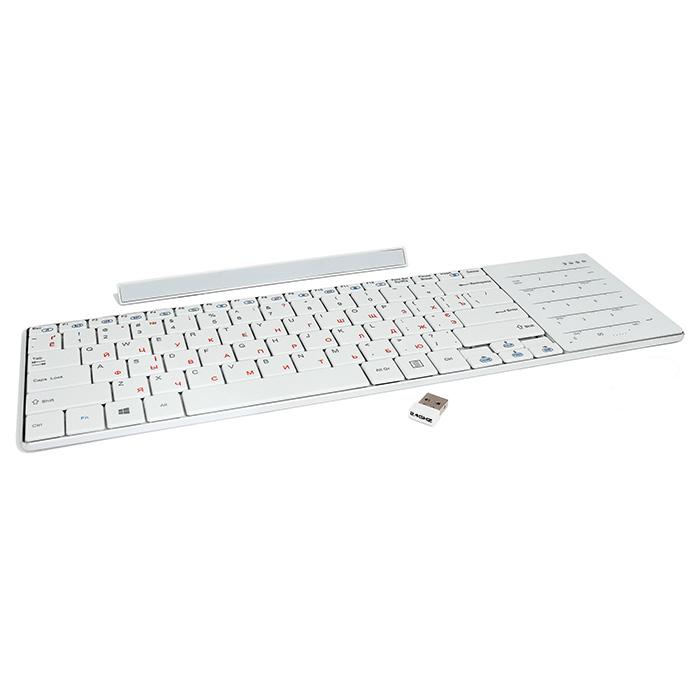 Клавіатура бездротова GEMBIRD KB-P8-W-UA
