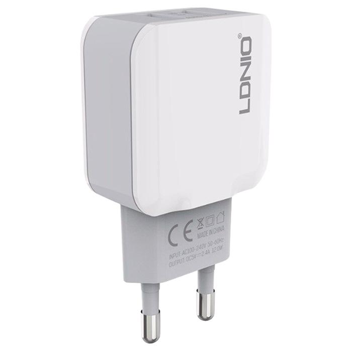 Зарядное устройство LDNIO A2202 + Lightning Cable