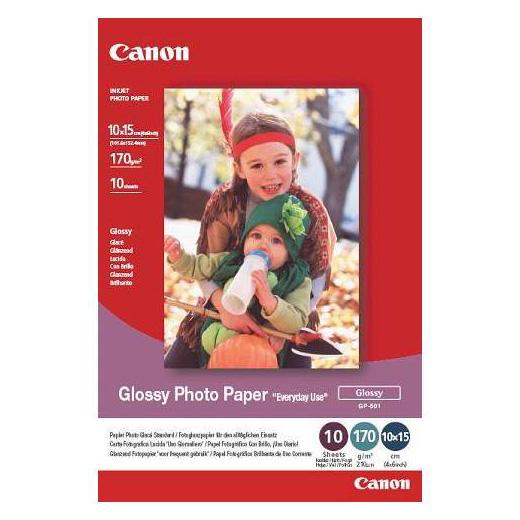 Фотопапір CANON Glossy Photo GP-501 10x15см 170г/м² 10л (0775B005)
