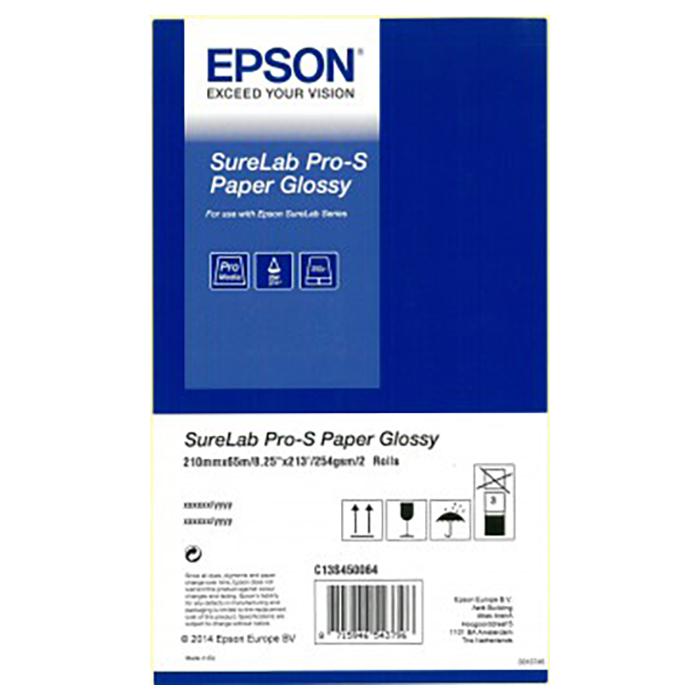 Фотопапір EPSON SureLab Pro-S Paper Glossy 254г/м² 2рул. (C13S450064BP)