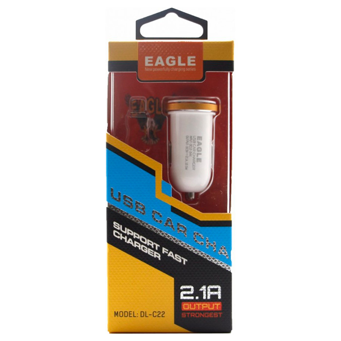 Автомобильное зарядное устройство LDNIO DL-C22 White + Micro-USB Cable