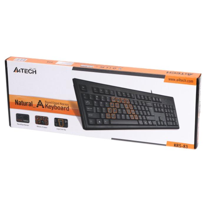Клавіатура A4TECH Natural A KRS-83 USB Black