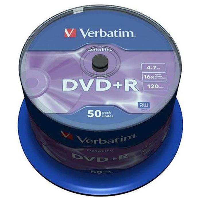DVD+R VERBATIM DataLife 4.7GB 16x 50pcs/spindle (43815)
