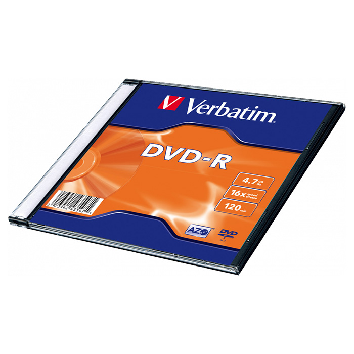 DVD-R VERBATIM AZO 4.7GB 16x 1pc/slim (43547)