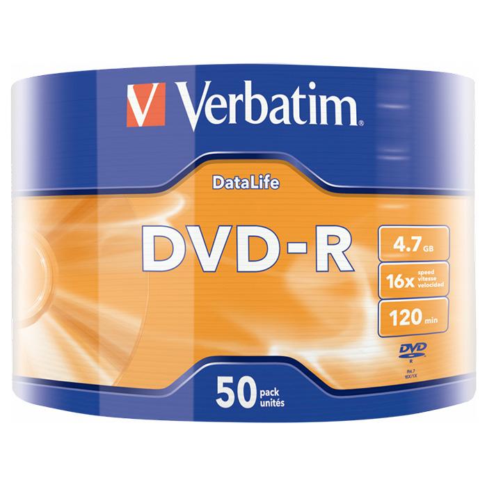 DVD-R VERBATIM DataLife 4.7GB 16x 50pcs/wrap (43791)