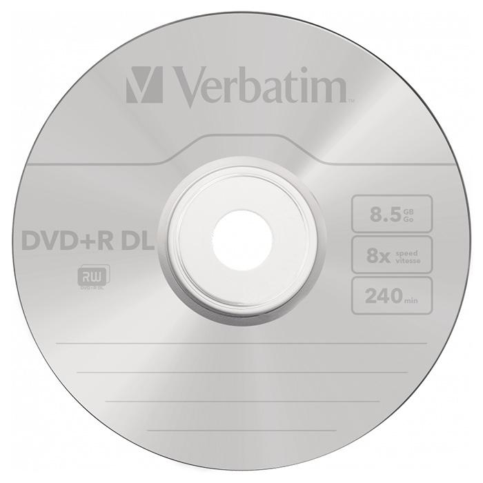 DVD+R DL VERBATIM AZO 8.5GB 8x 50pcs/spindle (43758)