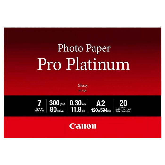 Фотопапір CANON Pro Platinum PT-101 A2 300г/м² 20л (2768B067)