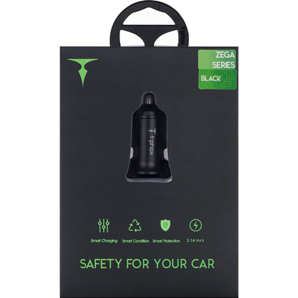 Автомобильное зарядное устройство T-PHOX Zega Black