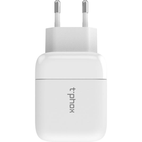 Зарядное устройство T-PHOX Coco PD 18W + QC3.0 White