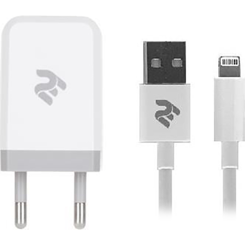 Зарядное устройство 2E Wall Charger 1USB x 2.1A with Lightning cable (2E-WC1USB2.1A-CL)