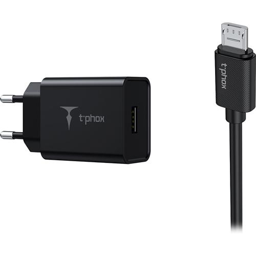 Зарядное устройство T-PHOX Mini T-S01 for MicroUSB Black