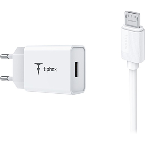 Зарядное устройство T-PHOX Mini T-S01 for MicroUSB White