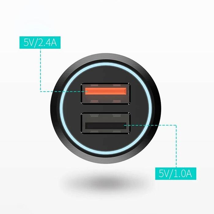 Автомобильное зарядное устройство XIAOMI 70MAI Dual USB Car QC3.0 Charger (MIDRIVE CC02)