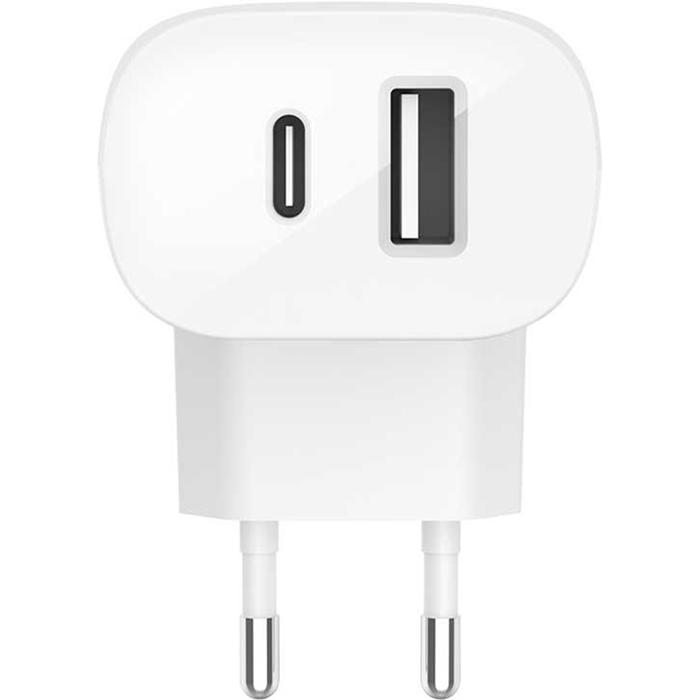 Зарядное устройство BELKIN Boost Up Charge USB-C + USB-A 30W (F7U097VFWHT)