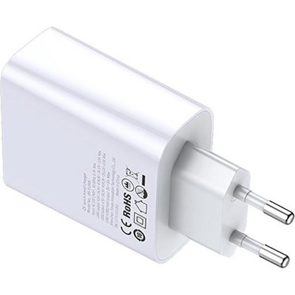 Зарядное устройство BASEUS Adaptor Speed Dual QC3.0 White (CCFS-E02)