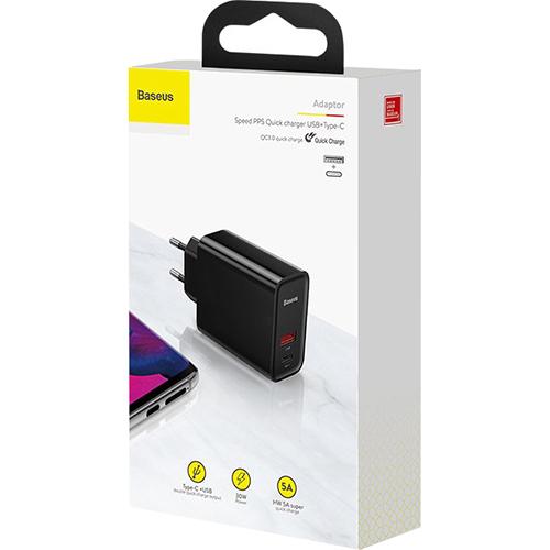 Зарядное устройство BASEUS Adaptor Speed PPS Black (CCFS-C01)