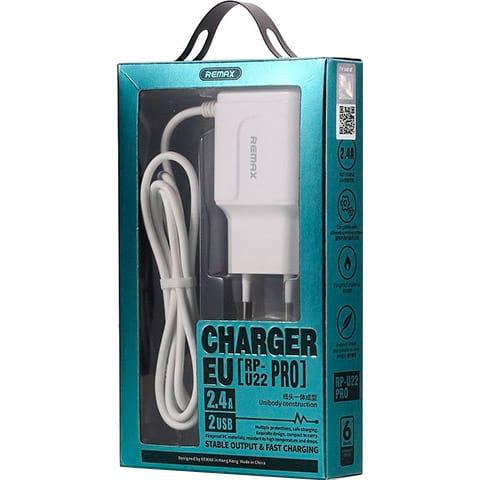 Зарядное устройство REMAX RP-U22 Pro Micro-USB White