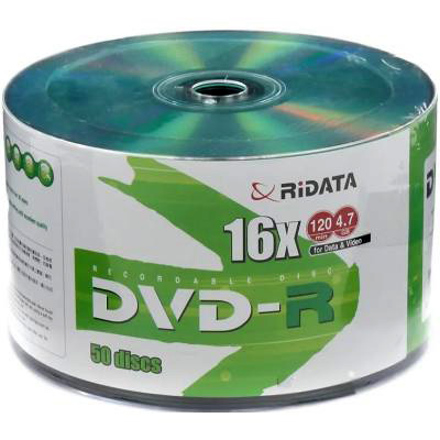 DVD+R RIDATA Green Top 8.5GB 8x 50pcs/wrap (906OEDRRDA058)