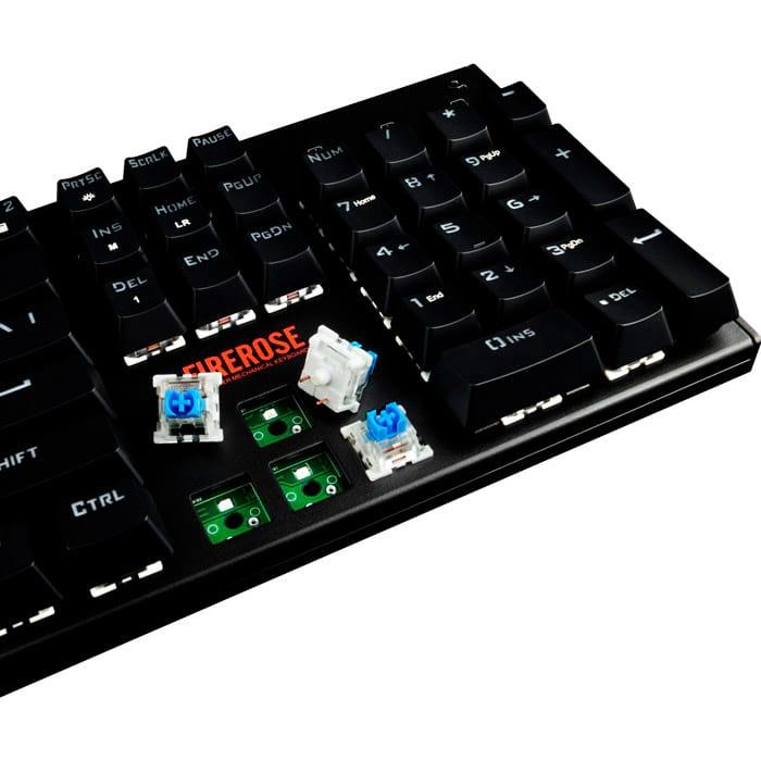 Клавіатура 1STPLAYER Firerose MK3 Black Outemu Blue