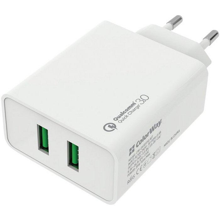 Зарядное устройство COLORWAY CW-CHS017Q-WT