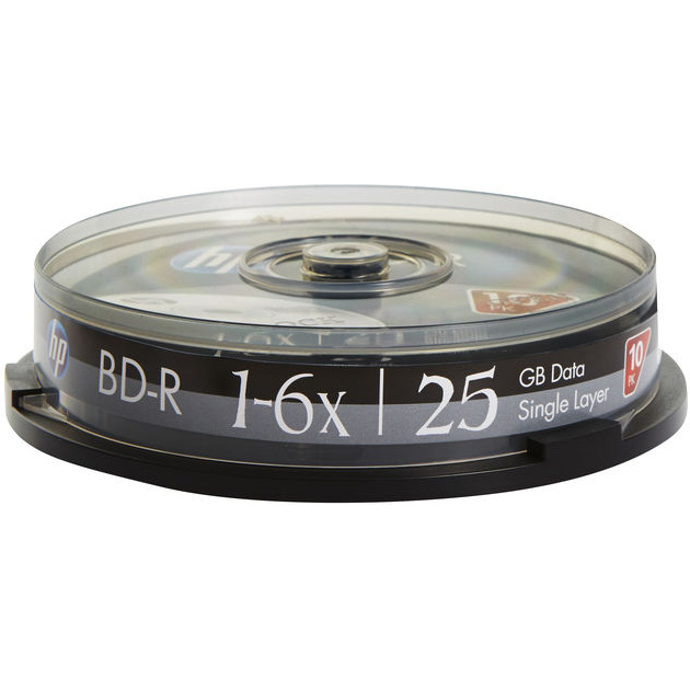 BD-R SL HP 25GB 6x 10pcs/spindle (69321/BRE00071-3)